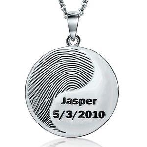 Fingerprint Jewelry ROUND Pendant